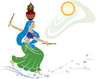 Garba (Dandia) Is An Indian Dance. Garba (Dandia) Is An Indian Form Of Dance Royalty Free Stock Photography