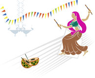 Garba (Dandia) Is An Indian Dance. Garba (Dandia) Is An Indian Form Of Dance Stock Images