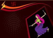 Garba (Dandia) Is An Indian Dance. Garba (Dandia) Is An Indian Form Of Dance Stock Image