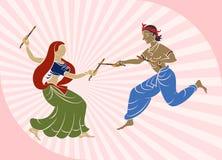 Garba (Dandia) Is An Indian Dance. Garba (Dandia) Is An Indian Form Of Dance Stock Photography
