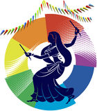 Garba (Dandia) Is An Indian Dance Royalty Free Stock Images