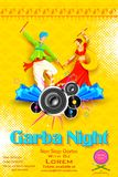 Garba-Nachtplakat Lizenzfreies Stockfoto