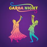 Garba night poster design Stock Photography
