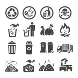 Garbag icon set royalty free illustration