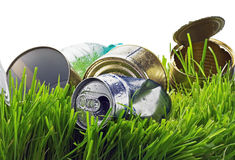 Garbage from aluminum and tin cans Royalty Free Stock Photo