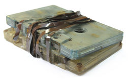 Garbage audio cassette Stock Images