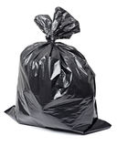 Garbage bag. Close up of a garbage bag on white background with clipping path stock photography