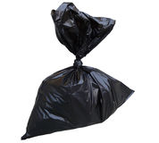 Garbage Bag. Black garbage bag isolated on white background Royalty Free Stock Photo