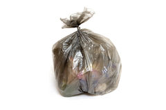 Garbage Bag. Isolated on white background royalty free stock images
