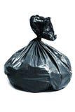 Laundry bag. Black laundry bag on white background Stock Photography