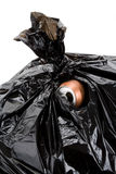Garbage Bag and can Royalty Free Stock Photos