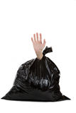 Garbage Bag and hand Royalty Free Stock Image