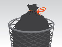 Garbage Bag Tied Royalty Free Stock Images