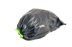 Garbage bag on white background with clipping path Royalty Free Stock Photo
