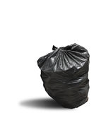 Garbage bag on white background clipping path Stock Photo