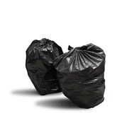 Garbage bag on white background clipping path Royalty Free Stock Photo