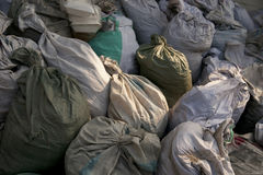 Garbage bags Stock Photos