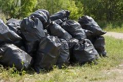 Garbage bags royalty free stock photos