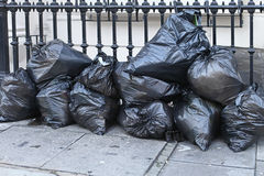 Garbage bags Royalty Free Stock Photography