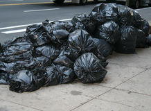 Garbage Bags. New York Trash stock photo