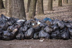 Garbage in the bags Royalty Free Stock Photos