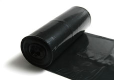 Garbage bags on a roll Stock Images