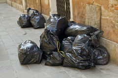Garbage bags Royalty Free Stock Photos