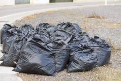 Garbage bags. Garbage bags on the street Royalty Free Stock Image