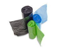 Garbage bags Royalty Free Stock Images