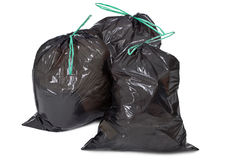 Garbage bags on white Royalty Free Stock Photos