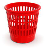 Garbage basket (clipping path included) Royalty Free Stock Image