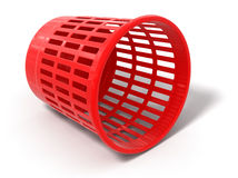 Garbage basket (clipping path included) Royalty Free Stock Photography