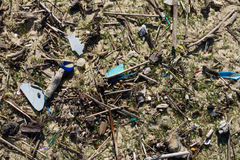 Garbage on the beach Stock Photo