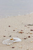 Garbage On The Beach. Royalty Free Stock Photo