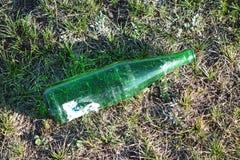 Garbage beer bottles Stock Photography