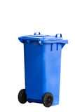 Garbage Bin on beach Background Stock Images