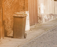 Garbage Bin City Streets Stock Photos