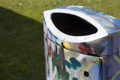 Garbage bin graffiti Stock Photo