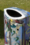 Garbage bin graffiti Royalty Free Stock Images