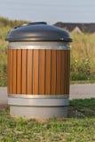 Garbage bin. A garbage bin in the park Royalty Free Stock Image