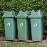 Garbage bin  in the park Stock Photos