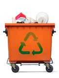 Garbage bin. Recycled sign on garbage bin Stock Photography