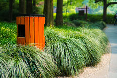 A garbage bin on the road side Royalty Free Stock Photography