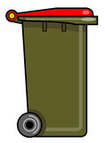 Garbage bin with wheels. Vector art of a Garbage bin with wheels Stock Image