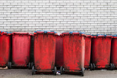 Garbage bins Stock Images