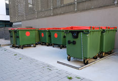 Garbage bins Stock Photography