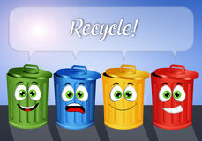 Garbage bins for recycle Royalty Free Stock Images