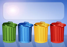 Garbage bins for recycling Stock Photos