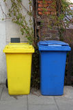 Garbage bins on the street Royalty Free Stock Photos