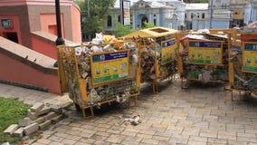 Garbage bins stock footage